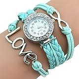 Fahion Antique Silver Infinity Love Charm Bracelet Bangle Wa