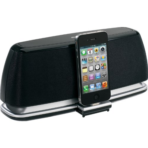 Jensen Jips-200I Universal Ipad/Ipod/Iphone Docking Speaker System With Digital Volume Control, Aux Line-In, 2Wx2 And Remote