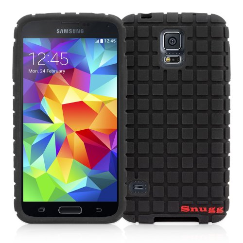 Snugg Galaxy S5 Silicone Silicone Case Cover in Black - Ultra Slim, Non Slip Material Protective and Soft to Touch for the Samsung Galaxy S5
