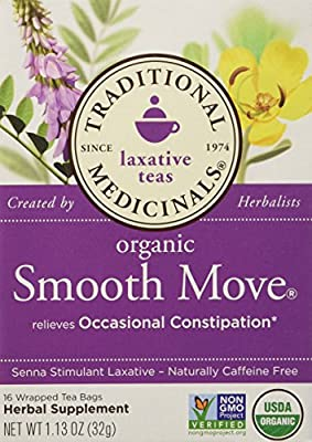 Traditional Medicinals Organic Smooth Move Herbal Tea 2-pack 32 Count 1.13 OZ by TRADITIONAL MEDICINALS