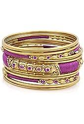 Violet Purple Stackable Bangle Bracelet Set