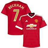 """Manchester United Home Beckham Jersey 2015 / 2016 (EPL """"Golden Great"""" Printing)"""