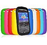 Accessory Master E63 Pack de 10 Housses en silicone pour BlackBerry Curve 9320 Rose/Noir/Blanc/Rouge/Vert/Bleu/Jaune/Ciel/Bleu/Orange