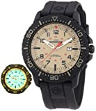 TIMEX MENS EXPEDITION RANGE TAN COLOUR DIAL BLACK RUBBER/RESIN STRAP SPORTS WATCH WITH INDIGLO & DATE FUNCTION
