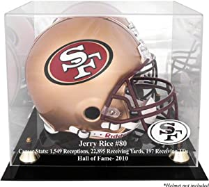 Jerry Rice San Francisco 49ers 2010 Hall of Fame Golden Classic Helmet Case and... by Mounted Memories
