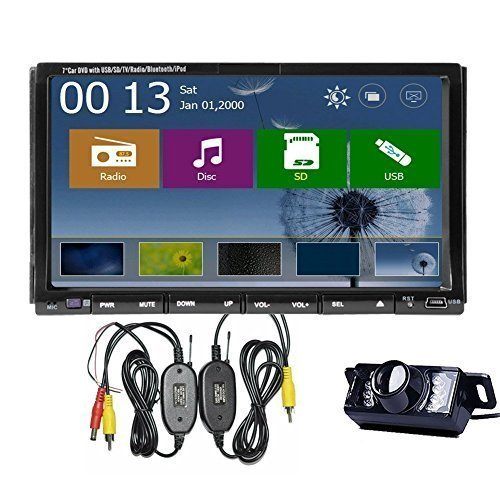 Wireless LED Nightview Backup Camera Included 7 Inch GPS Navigation Car DVD Player with Win8 Windows 8.0 UI In Dash Radio Auto PC Stereo Bluetooth USB Cable for iPod/iPhone USB/SD/BT