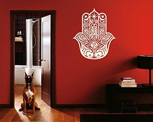 Wall Decal Vinyl Sticker Decals Art Decor Design Hamsa Hand Yin Yang Indian Buddha Ganesh Lotos Modern Bedroom (R140) front-739026
