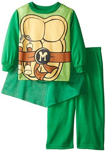 Teenage Mutant Ninja Turtles Little Boys' Turtle Hero 2-Piece Pajama Set, Green, 3T (Ninja Turtles Pajamas Set compare prices)