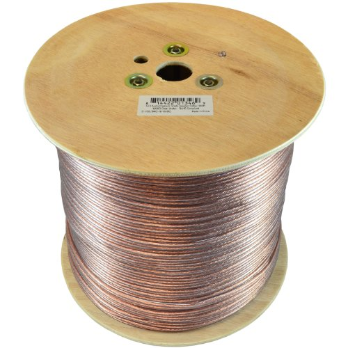 Gls Audio Premium 16 Gauge 1000 Feet Speaker Wire - True 16Awg Speaker Cable 1000Ft Clear Jacket - High Quality 1000' Spool Roll 16G 16/2 Bulk