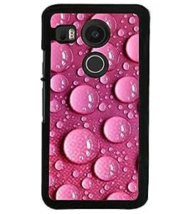 Printvisa Pink Water Droplets Pattern Back Case Cover for LG Google Nexus 5X::LG Google Nexus 5X (2nd Gen)