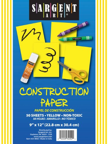 Sargent Art 23-4002 50-Count Yellow Construction Paper - 1