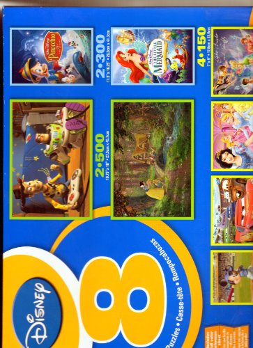 Disney 8 In 1 Multi Pack Boxed Puzzles Featuring Snow Whites SWEET GOODBYE and Other Puzzles - 1
