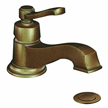 Moen 6202AZ Rothbury One-Handle Low Arc Bathroom Faucet, Antique Bronze (Not CA / VT Compliant)