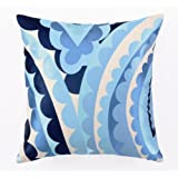 Trina Turk 20-Inch by 20-Inch Vivacious Down-Filled Pillow, Blue