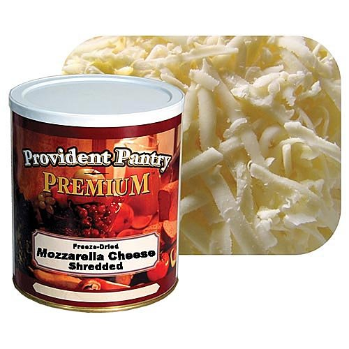 Provident Pantry Freeze Dried Shredded MOZZARELLA Cheese -28 oz