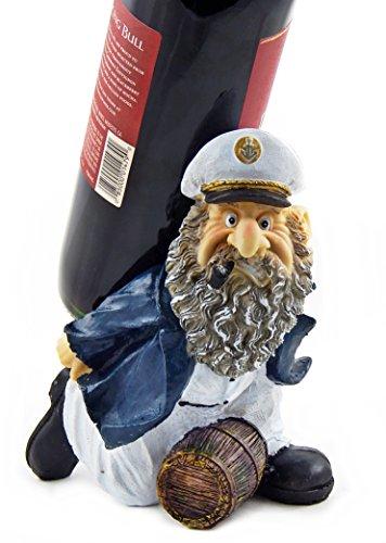 Captain Barrels Wine Bottle Holder Statue Nautical Kitchen Bar Decor Wine Stands & Racks Sculpture Gifts (Wine Bottle Holder Decorative compare prices)