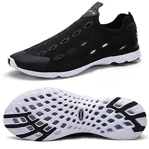 Zhuanglin Women's Quick Drying Aqua Water Shoes Casual Walking Shoes Size 10 B(M) US Black