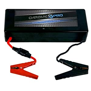 chrome pro rescue portable lithium ion 12 volt battery starter and booster electronics. Black Bedroom Furniture Sets. Home Design Ideas