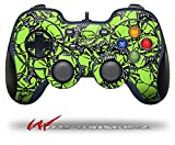 Scattered Skulls Neon Green - Decal Style Skin fits Logitech F310 Gamepad Controller (CONTROLLER SOLD SEPARATELY)