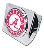 "University of Alabama ""Bright Polished Chrome with Crimson Tide Seal"" NCAA College Sports Metal Trailer Hitch Cover Fits 2 Inch Auto Car Truck Receiver at Amazon.com"