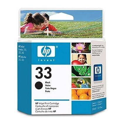 HP N°33 Cartouche d'encre d'origine Noir