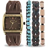 Kahuna Women's Quartz Watch with Brown Dial Analogue Display and Brown Leather Strap AKLS-0287L