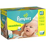 Pampers Swaddlers Diapers Size 2 Giant Pack 132 Count