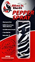 Black Belt Pepper Spray (Zebra Leatherette Pouch)