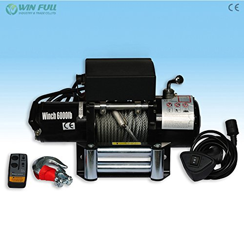 WIN FULL 12 V WIRELESS STAINLESS STEEL CABLE 6000LBS PERMANENT MAGNET ELECTRIC WINCH ATV 4WD 4×4 BOAT TRUCk (650 Cca Car Battery compare prices)