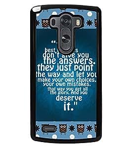 PRINTVISA Deserve It Premium Metallic Insert Back Case Cover for LG G3 - D5789