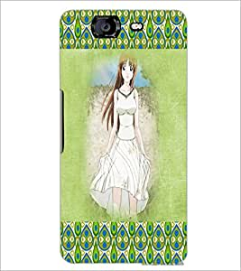 PrintDhaba Cute Girl D-4586 Back Case Cover for MICROMAX A350 CANVAS KNIGHT (Multi-Coloured)