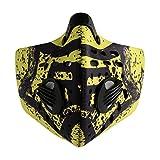 ROCKBROS(ロックブロス) フェイスマスク 防塵・花粉・風邪・インフルエンザ対策 アウトドアスポーツ フェイスマスク ネオプレンフィルター(イエロー,)