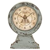 Sage Green 12 in. Wood Table Clock