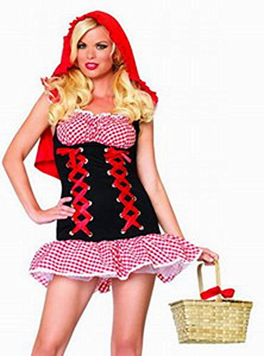 GALHAM - Sexy Fairy Tale Halloween Red Riding Hood Dress Costume
