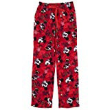 Mickey and Minnie Red Fleece Pajama Pants for Women