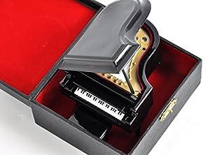 SUNRISE SOUND HOUSE サンライズサウンドハウス ミニチュア楽器 グランドピアノ 9cm 黒