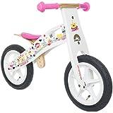 BIKESTAR® 30.5cm (12 pouces) Bois Vélo Draisienne pour enfants ★ Couleur Blanc Design Princesse