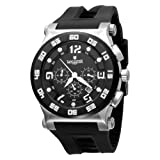 Lancaster Men's  OLA0347SS/NR Barreto Black Dial Watch Model