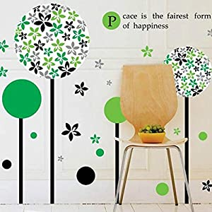 Great Value Wall Decor Pandora Flower Tree Blue Wallpaper Removable Wall Stickers Mural Wall Decal Decor by Mzamzi