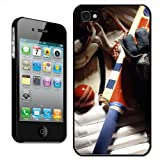 Cricket Gear Padding, Bats, Gloves & Ball Hard Case Clip On Back Cover For Apple iPhone 4 4S