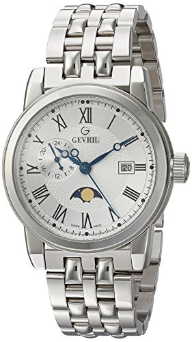 Gevril-Mens-2526-CORTLAND-Analog-Display-Swiss-Quartz-Silver-Watch