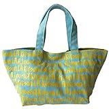(キットソン) kitson トートバッグ グラフィティロゴ ブルー×イエロー ミニキャンバスグラフィティトート KHB0273 [並行輸入品]