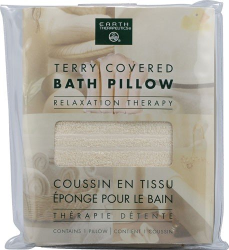 Earth Therapeutics Terry Bath Pillow NaturalB00016WSIK