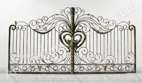 Ursula Dual Styled Wrought Iron Artistic Gate