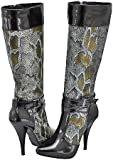 Anne Michelle Chaos-03 Black Patent Women Fashion Boots