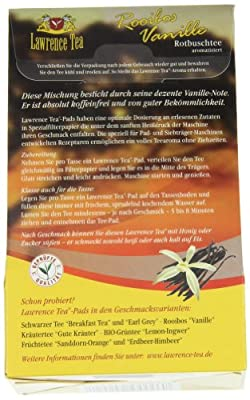 Lawrence Tea Rooibos-Vanille, aromatisierter Rooibostee, 20 Teepads, 2er Pack (2 x 40 g) von Lawrence Tea auf Gewürze Shop