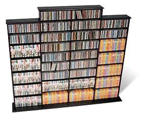 Prepac Black Quad Width Wall Media (DVD,CD,Games) Storage Rack
