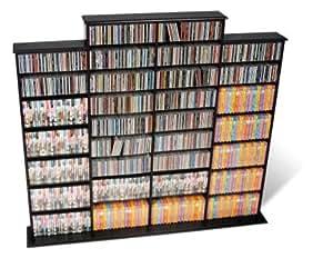 Prepac Black Quad Width Wall Media (DVD,