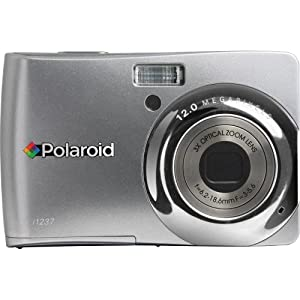 Polaroid CIA-1237SC 12MP CCD Digital Camera with 2.7-Inch LCD Display (Silver)