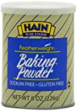Hain Pure Foods Baking Powder Sodium Free, Gluten Free, 8 Ounce Boxes (Pack of 4)